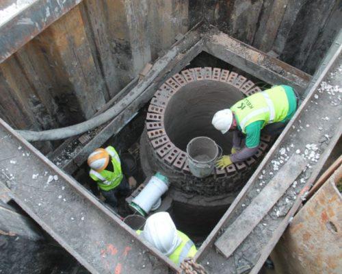 manhole install