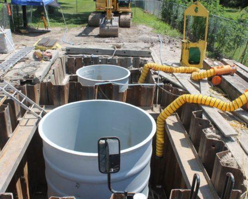 wet well valve pit